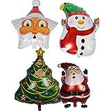 Echana クリスマス 風船 バルーン パーティー セット クリスマスツリー 飾り インスタ映え サンタ プレゼント 4セット