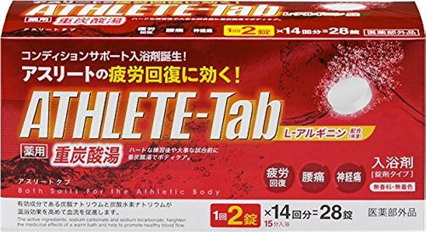 地震怖がらせる実験をする薬用 ATHLETE-Tab 入浴剤 1錠X28パック