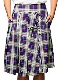 (アリスズピッグ) Alice's Pig 巻きスカート風 膝丈 スカート レディース Harriet's Highland
