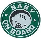 【Cat fight】自動車用 夜間 反射 baby in car ベビーインカ― 赤ちゃんが乗ってます マグネット ステッカー (B)