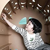 ダンボール 段ボール ハウス 組み立ても簡単 落書きもできます 軽い 自分の秘密基地 収納方便 掃除便利