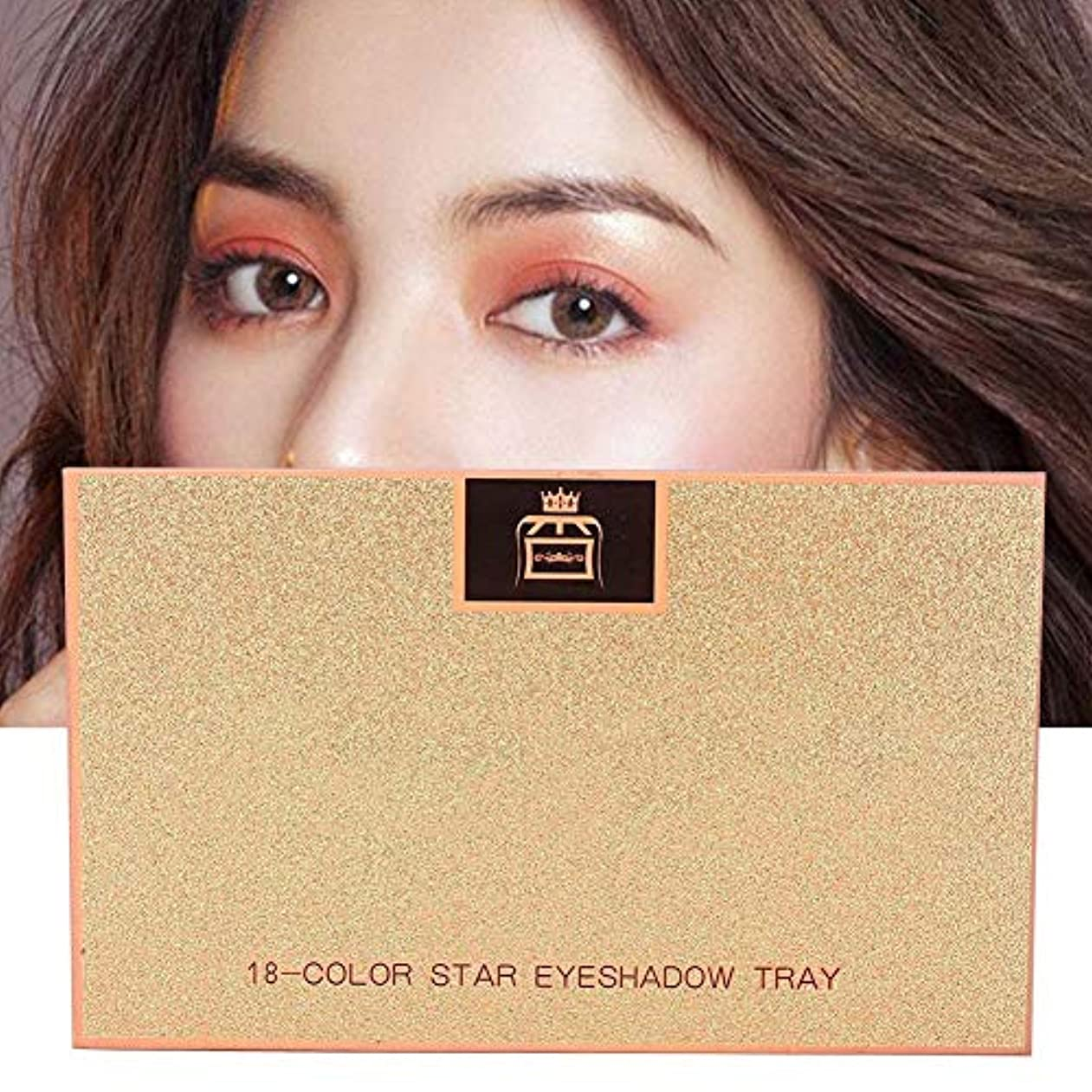 耳突然いろいろ18 Colors Matte Eyeshadow女性用アイシャドウ
