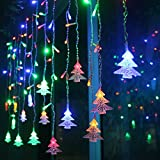 RUICHEN イルミネーション 4m led ツリーライト クリスマス パーティー・ワードローブ・結婚式・カーテン等の装飾に最適、IP65防水仕様 (カラーフル)