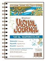 "Strathmore Visual Journal Spiral Bound 5.5""X8""-140# Watercolor (並行輸入品)"