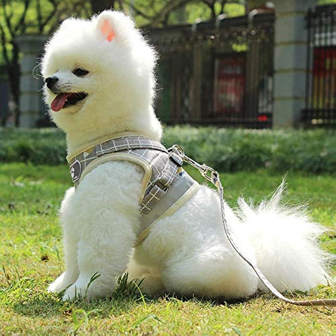 火薬サイト迷路KAKACITY 反射 犬用ハーネス引き出し不可能なペット用ハーネス調節可能な屋外ペット用ベスト犬用の材料ベスト小型中型大型犬用の簡単なコントロール (色 : カーキ)