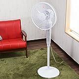 【扇風機 360度回転 リモコン付き】循環サーキュレーター パワフル風量 タイマー・リモコン付きで便利♪ リビング・ダイニング・寝室に場所を選ばずお使いいただけます 色:レッド