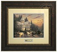 Victorianクリスマス–Thomas Kinkade Prestigeホームコレクション 25.5Lx23H ゴールド