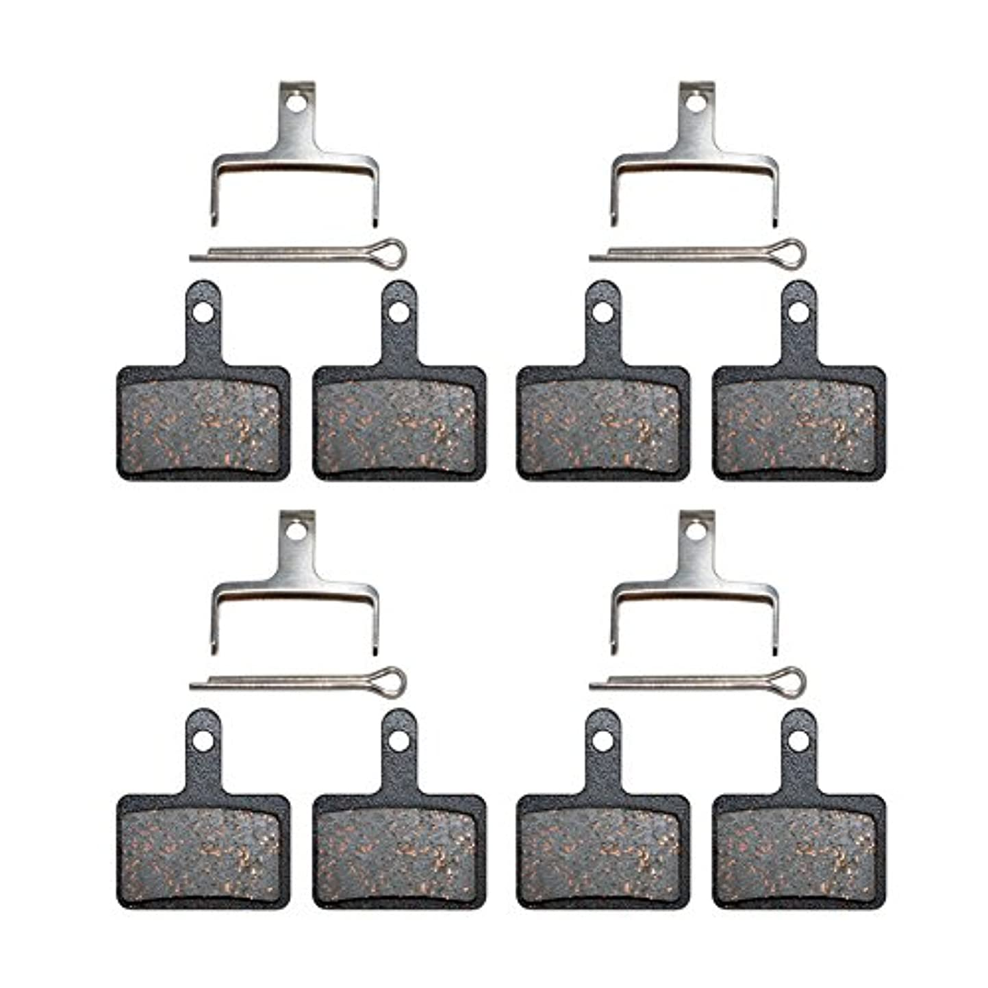 苦延期する延期する自転車 ディスクブレーキパッド シマノ M375 M395, M415, M416, M416A, M445 M446 M447 M465 M475 M485 自転車パーツ 騒音低減 互換性 耐久