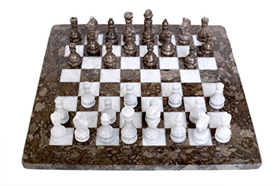 RadicalnハンドメイドグレーOceanic andホワイトMarble Fullチェスゲーム元大理石チェスセット