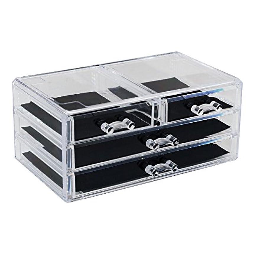 アグネスグレイフォーラム没頭するアクリルケース 収納ケース 引き出し×2 小引き出し×2 小物 Mサイズ コスメボックス ディスプレイ_87249