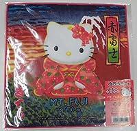 はろうきてぃ 赤富士バージョン MT.FUJI 3776m プチタオル Hello Kitty ハローキティ ハンドタオル
