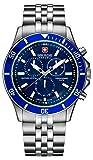 [スイスミリタリー]SWISS MILITARY 腕時計 【Amazon.co.jp限定】 フラッグシップ ML-323 ブルー メンズ 【正規輸入品】