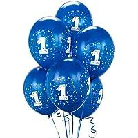 Royal Blue # 1 Balloons ( 6 )