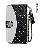 「kaupili」 左利き用ケース 鏡/ミラー付き カード収納 スタンド機能 手帳型 お財布機能付き 化粧鏡付き W121-Y1[SPJZDZ-ZS] (Disney Phone DM-01G)