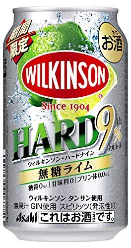 【季節限定】ウィルキンソン・ハードナイン 無糖ライム缶 350ml×24本 [ チューハイ ]