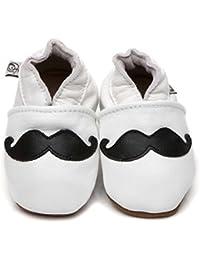 Soft Leather Baby Shoes Moustache [ソフトレザーベビーシューズマスタッシュ] 4-5 years (17.5 cm)