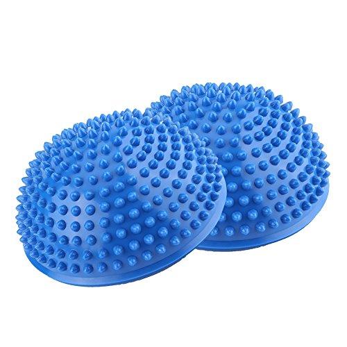 バランスボール バランスディスク ツボ押し 腰 背中 ふくらはぎ 足裏 マッサージボール ヨガボール 血液循環促進 緊張緩和 フィットネス 半球 ドリアン 8色(ブルー)