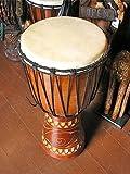 アジアン雑貨 ジャンベ 太鼓 H.60cm 木彫り アジアの楽器