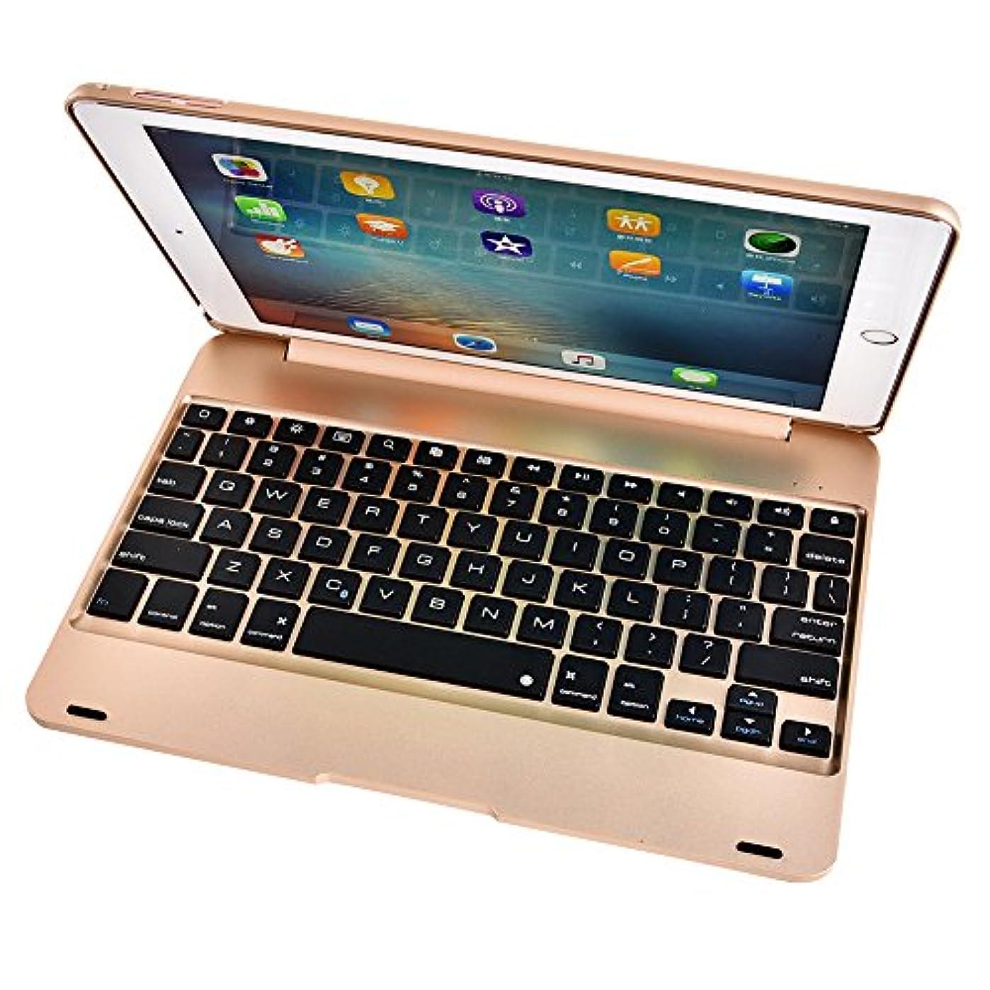 知覚削減賛辞iPad Pro 9.7用 Bluetooth ワイヤレス キーボード オートスリープ/スタンド機能 キーボードカバー ノートブックタイプ 保護ケース  全4色