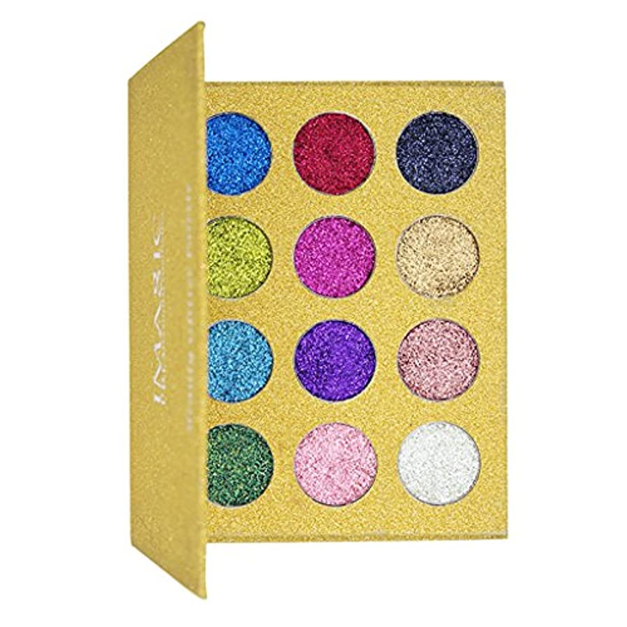 信じられないストリップ影響12色 光沢 アイシャドーパレット ダイヤモンドピグメント アイシャドウ 全2タイプ - #2
