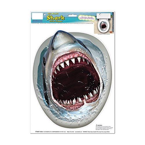 トイレ 蓋 デコレーション ステッカー 便座 ジョーズ サメ どっきり 面白ステッカー シャーク! ...