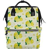 ママバッグ マザーズバッグ リュックサック ハンドバッグ 旅行用 レモン柄 ファション