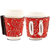 Objectiboo!(オブジェクティブー)通せるカップスリーブ Reference レッド(保温性・断熱性のある取手付きコーヒースリーブ・コンビニコーヒーカップなどに対応・アイスコーヒーにも使用可)
