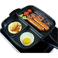 正方形Brunchファントリプルファン分割パーティションPansノンスティックキッチンCooker PFOAフリーIH誘導ガス範囲ホットプレート食洗機使用可能