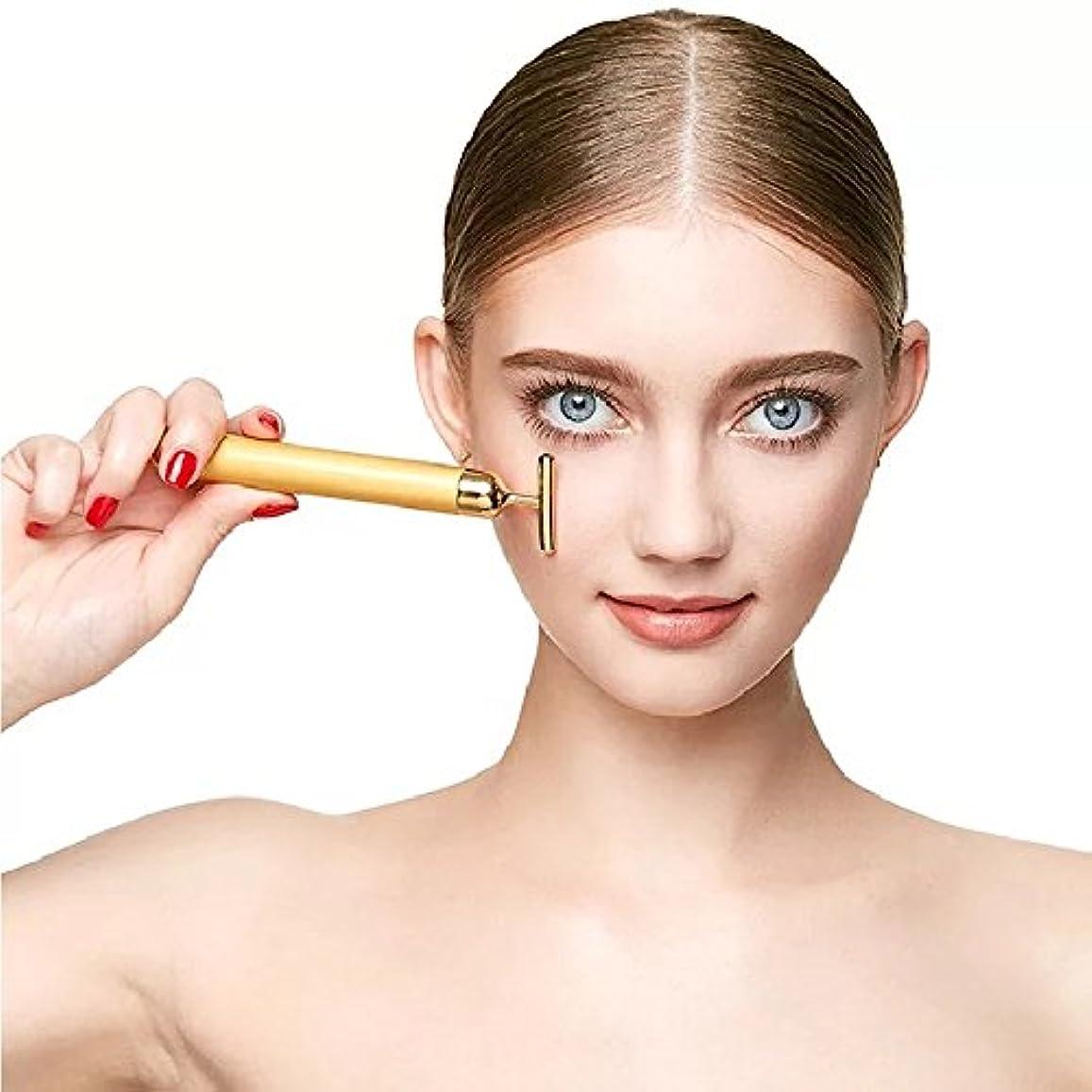 日記書く用心深いYSBER 24K Beauty Bar T型美肌 しわの除去/超音波美顔器