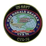 米軍グッズ 彫金ステッカー 空母ロナルド・レーガン 米海軍横須賀基地