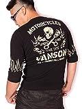 (バンソン) VANSON ピストンスカル サーマル 6分袖 Tシャツ NVLT-607 ブラック XXL