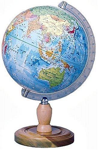 クツワ プラスチック 地球儀(行政図) 球径26cm GL263