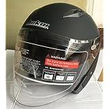 バイクヘルメット ジェットヘルメット JIEKAI JK-512 超人気 Bike Helmet メンズ レディース 10色選択可 艶消しブラック(透明シールド)L