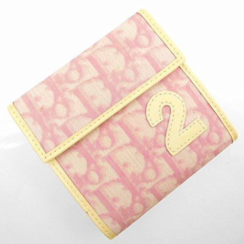 [クリスチャン・ディオール] Christian Dior 二つ折り財布 トロッター PVC×レザー X16910 中古