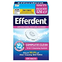 Efferdent Anti-Bacterial Denture Cleansers | 126 tablets | Actively Cleans Between Dentures
