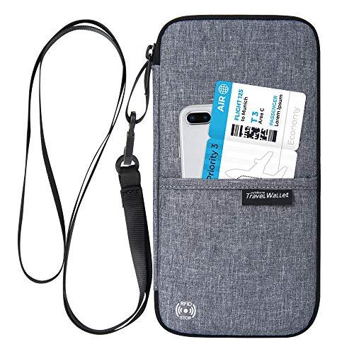 パスポートケース Evershop カードケース 通帳ケース 海外旅行グッズ 航空券対応 軽量 防水 スマホ収納可 貴重品入れ クラッチバッグ トラベルポーチ