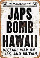 Shimaier ブリキ 看板 壁の装飾 メタルサイン 1941 Japs Bomb Hawaii ウォールアート バー カフェ 30×40cm ヴィンテージ風 メタルプレート