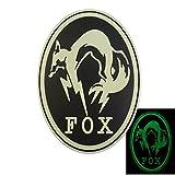 夜の暗闇で光る メタルギア ソリッド フォックスハウンド Ground Zeroes PS4 Xbox コスプレ PVC ベルクロ面ファスナー パッチ Patch