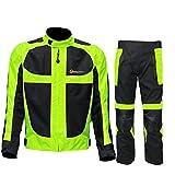 (ベンマロ)BENMALL レーシングスーツ 蛍光 防風 ジャケット ズボン スーツ セット レーシング オートバイク アウトドア用品
