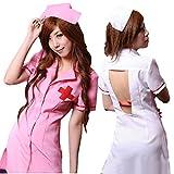 ギアード(GearD) コスプレナース 白衣 ハロウィン 仮装 衣装 大人用 セクシー 看護婦 パーティグッズ (2.ピンク)