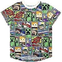 Vanilla Underground Minecraft Overworld Steve Creeper Boy's Short Sleeve T-Shirt