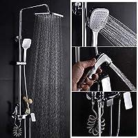 HSBAIS 浴室シャワー蛇口セット - オール銅4速レインシャワーセット、温水と寒い混合スプレーガンで多機能蛇口、バスルームアクセサリー