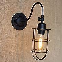 ZZXIA-壁ランプ 美式海外客間灯の寝室は黒芸術簡単なバルコニーのベッドのヘッドランプの壁ランプを飾ります,B