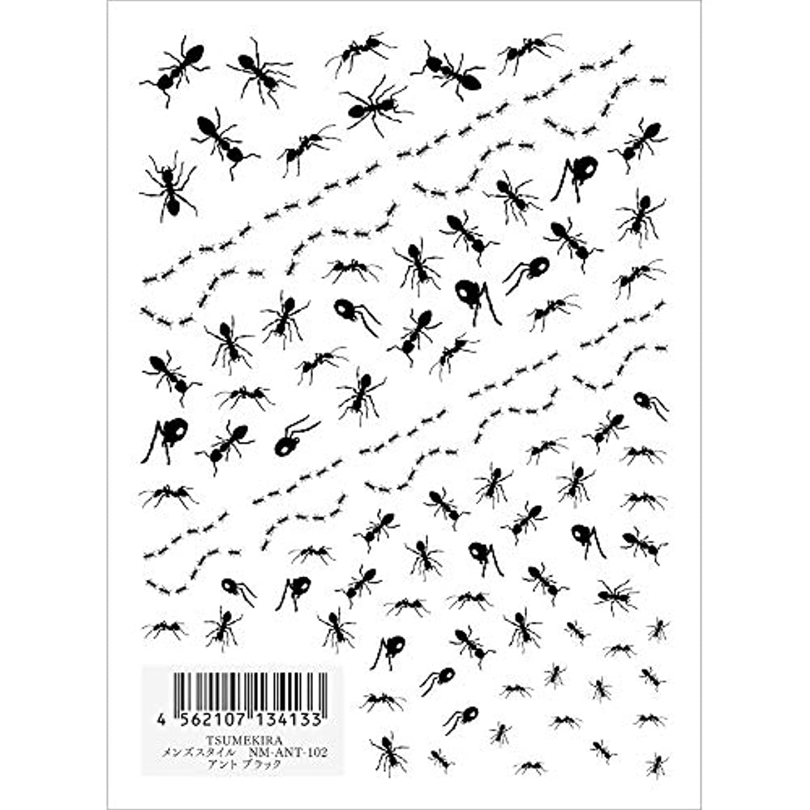 迫害分散先住民ツメキラ ネイル用シール メンズスタイル アント ブラック