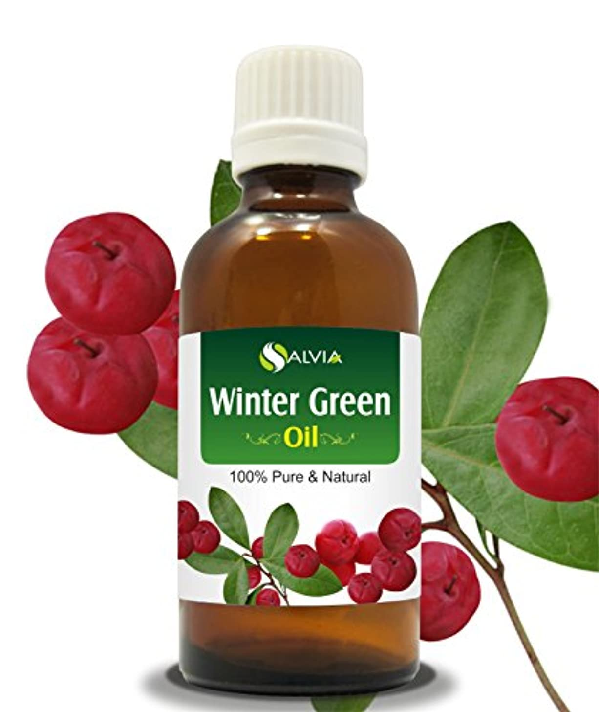 ランプ仲人実行可能WINTER GREEN OIL 100% NATURAL PURE UNDILUTED UNCUT ESSENTIAL OIL 15ML