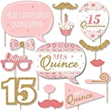 Big Dot of Happiness Mis Quince Anos - Quinceanera Sweet 15誕生日パーティー写真ブース小道具キット - 20個