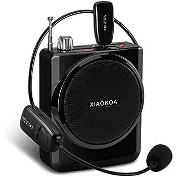 XIAOKOA 2.4G ポータブル拡声器 有線マイク付属 音楽同時再生可 USB充電式 TF/SDカード対応 イベント/講演/説明会/店頭販売等対応(日本語説明書付き)