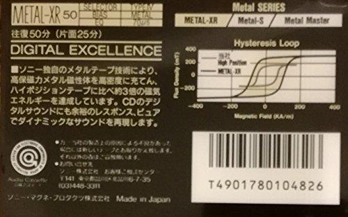 SONY メタルテープ METAL-XR 50分 ハイポジの3倍の磁気!高保磁力 MTL-XR50