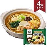 お水がいらない 鍋焼うどん 4食セット キンレイ 冷凍うどん [558g(麺200g)×4] 国産 [スープ/8種の具材入り] 温めるだけの簡単調理