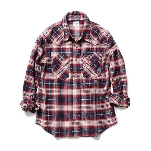 (ビームスライツ) BEAMS LIGHTS WRANGLER / 別注 チェックシャツ 52110229141  レッド 40